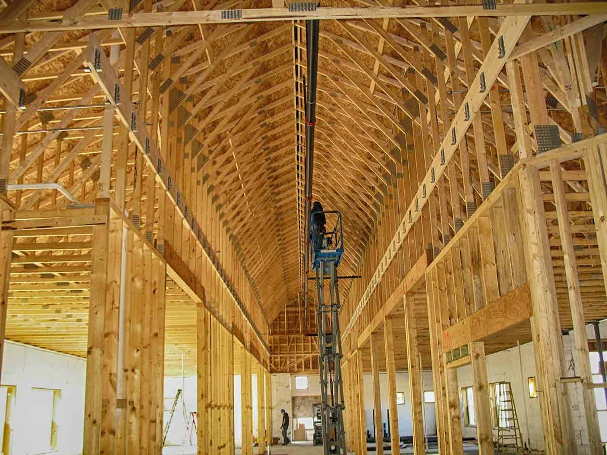 commercial roof trusses example